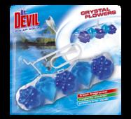 Гігієнічний блок для унітазу Dr. Devil WC Crystal Flowers Polar aqua