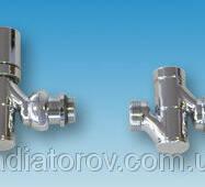 """Декоративний комплект для підключення поворотний (кран радіаторний   кран відсікає кутові 1/2"""") Pettinaroli"""