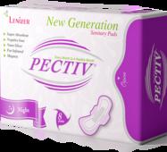 Женские гигиенические прокладки PECTIV ночные 8 шт.