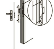 Електромеханічна замок-клямка  ES - 250nc