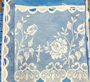 """Покрывало ритуальное """"Элегия"""" (П01к) Украина, Полиэстр, Голубой, голубой"""