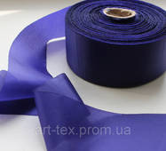 Лента шелковая 5 см /50 м Синий