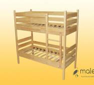Кровать детская, 2-х ярусная, из натуральной древесины