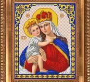 Заготовка для вишивки ікони Діва Марія з немовлям