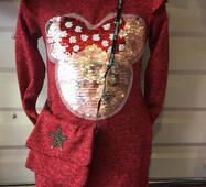 Подростковое платье с сумкой оптом 6-10 лет