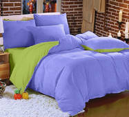 Комплект Двухстороннего постельного белья Сирень + Салатовый