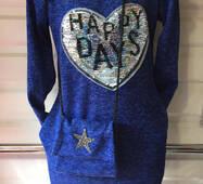 Подростковое платье с сумкой Бабочка оптом 8-11 лет