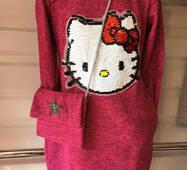 Подростковое платье с сумкой Китти оптом 8-11 лет