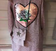 Подростковое платье с сумкой оптом 8-11 лет