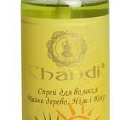 """Спрей для волосся """"Чайне дерево, Ним і Кокос"""" з УФ-фильтром Chandi, 100мл"""