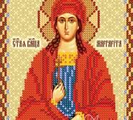 Заготовка для вышивки иконы Святой Маргариты