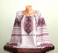 Жіноча сорочка на сірому льоні. Вишивка акриловою ниткою