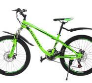 Велосипед 24 Remmy SPAZIO AM RS36 DD 13 чорно-салатний глянець