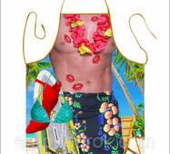 """Чоловічий фартух з приколом """"Гавайський хлопець""""."""