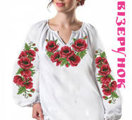 Заготовка  для вишивки жіночих сорочок  СЖ-23А