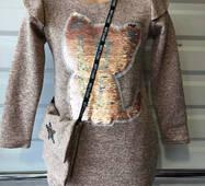 Підліткова сукня з сумкою оптом 6-10 років