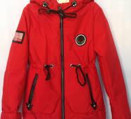 Детская куртка демисезонная с наушниками для девочки оптом 134-158