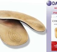 ORTHO AXEL напівустілка-супінатор,  пластиковий каркас, шкіра, амортизатор п'ятки 668/061Dakoma