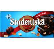 Шоколад Studentska чорный с арахисом, изюмом и кусочками мармелада, Чехия 180 гр