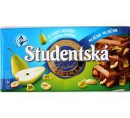 Шоколад Studentska молочный с грушей, арахисом и кусочками мармелада Чехия 180 гр