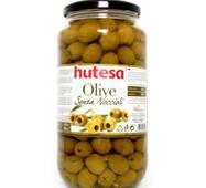 Зелені оливки без кісточки HUTESA, 900 г, Іспанія