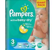 Підгузники Pampers Active Baby 3-ка (4-9кг) 90 шт