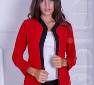 Женский пиджак-кардиган Cowl (RED/BLACK)