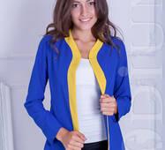 Женский пиджак-кардиган Cowl (BLUE/YELLOW)