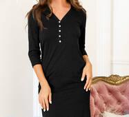 Комфортная ночная рубашка (черный)