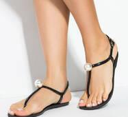 Женские силиконовые сандалии (черный)