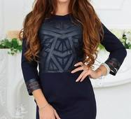 Платье 438007-1 темно-синий Весна 2018 Украина