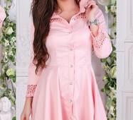 Платье 438180-2 пудра Весна 2018 Украина