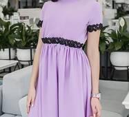 Платье 438109-3 сиреневый Весна 2018 Украина
