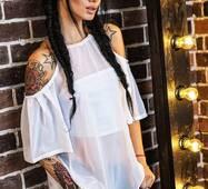 Блуза + топ 14042 (белый)