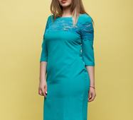 Женское платье Адри бирюза