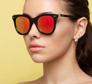 Солнцезащитные очки DI 14494 черный зеркало оранжевый