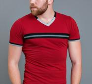 Мужская футболка Амаяк бордо
