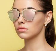 Солнцезащитные очки 14436 золото зеркало пудра