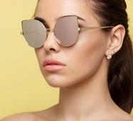Солнцезащитные очки 14416 золото линза зеркало