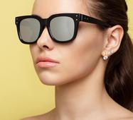 Солнцезащитные очки 14501 черный зеркало серый