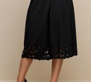 Женская юбка большого размера Перфо черный