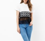 Женская футболка 18605 молочный