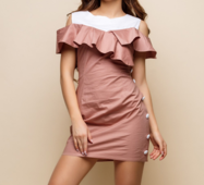 Женское платье Мари бежевый