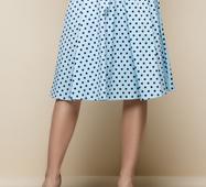 Женская юбка 14879 мята принт горох