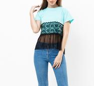 Женская футболка 18604 ментоловый
