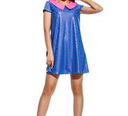 Женское платье Санди электрик с розовым