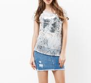 Женская футболка 18564 серый
