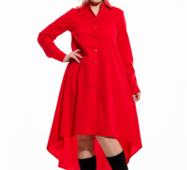 Женское платье большого размера Санди коралл