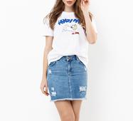 Женская футболка 18571 белый