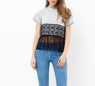 Женская футболка 18603 серый
